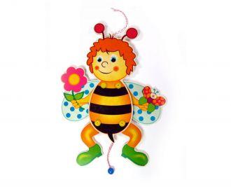 Hampelbiene mit Blume