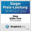 Sieger Preis-Leistung bei Vergleich.org